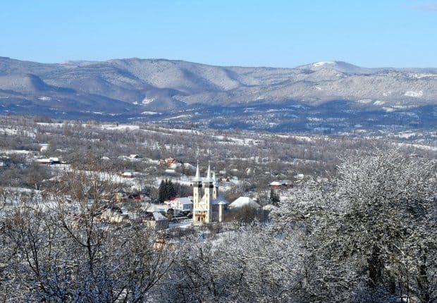 Winter snow in Romania Breb Maramures
