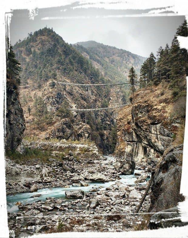 bridge namche bazaar everest trek