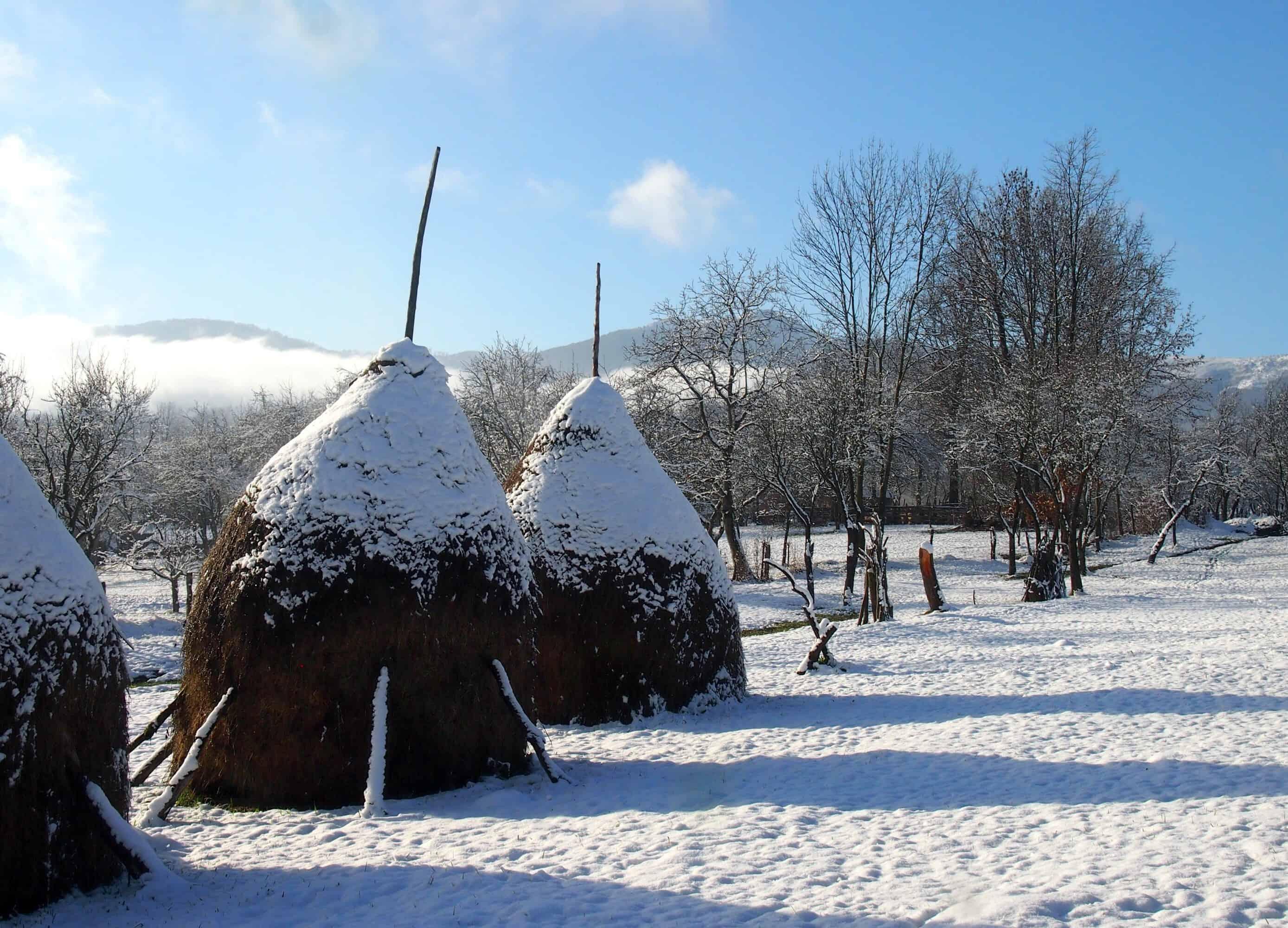 Snow in Romania