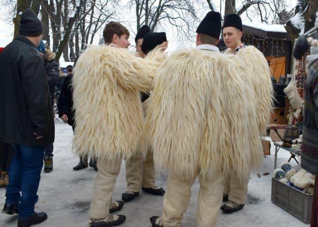 winter in Romania keeping warm
