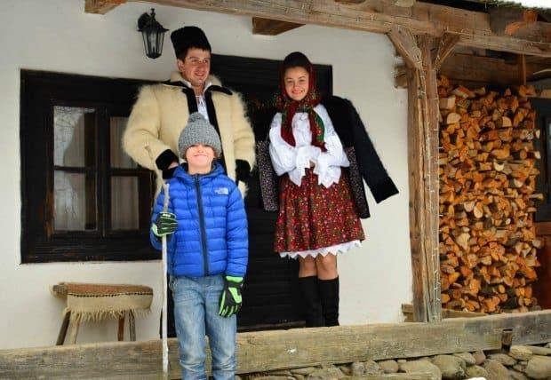 winter in Romania village Maramures