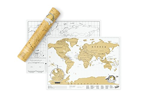 World Traveller Map Personalised on