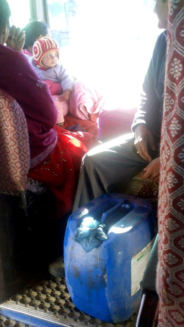 Fuel on the bus from Phaplu to Kathmandu
