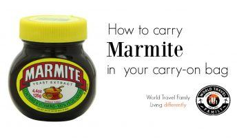 How to carry marmite in your carry on bag