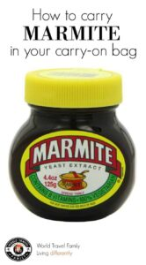 How to pack Marmite in your carry on luggage