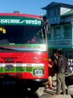 Rest stop on the bus rom Phaplu to Kathmandu