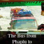 The bus from Phaplu to Kathmandu