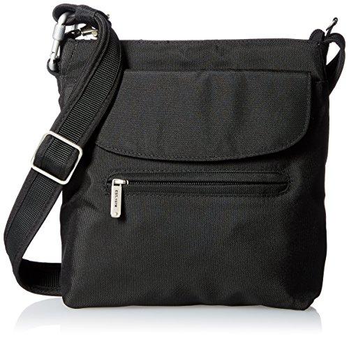 anti theft shoulder bag for travel, black