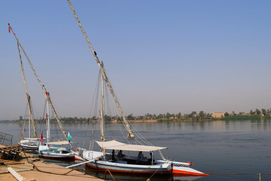 Feluccas on the river Nile Aswan
