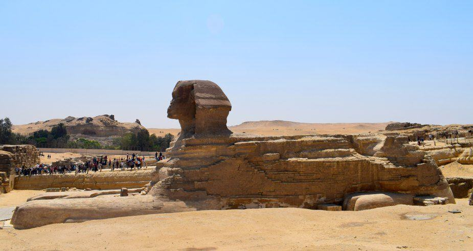 Crowds at the Giza Sphinx Egypt 2017