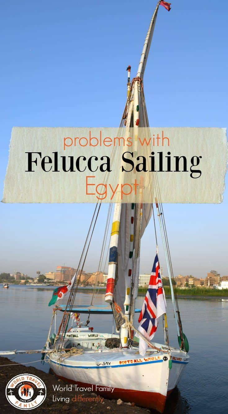 Felucca sailing on the Nile Egypt
