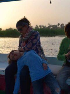 Felucca sailing on the Nile Egypt
