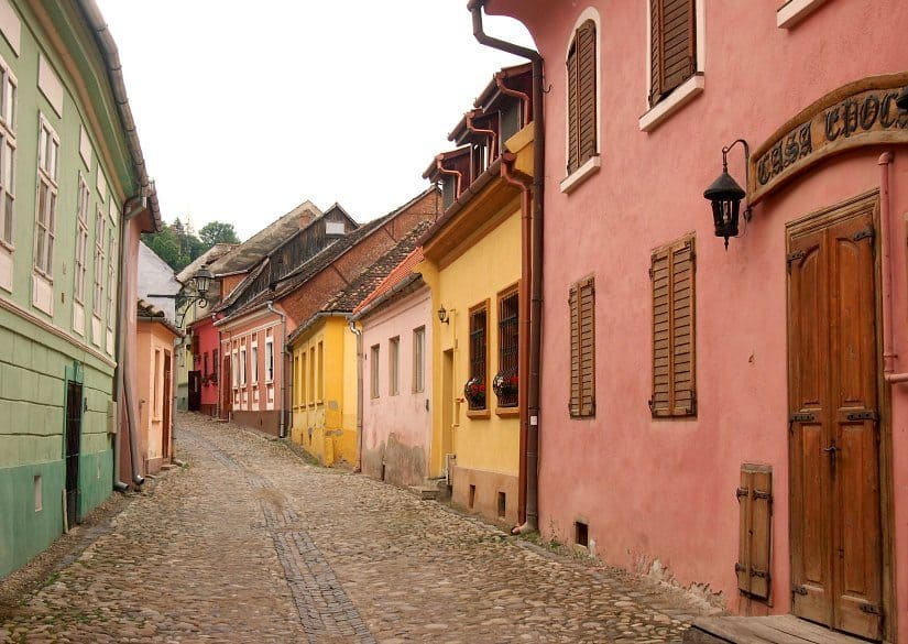Streets of Sighisoara, inside the citadel