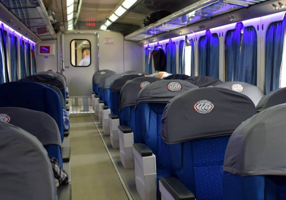 The train from Cairo to Luxor First Class