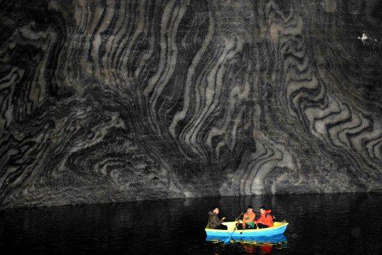 Lake in the Turda Salt Mine, Romania