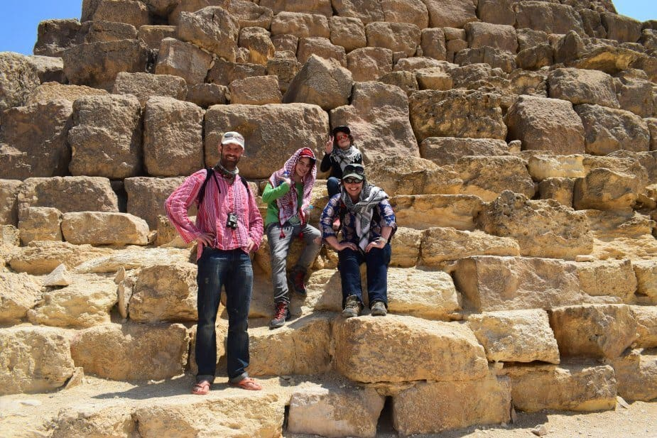 World Travel Family at the Pyramids