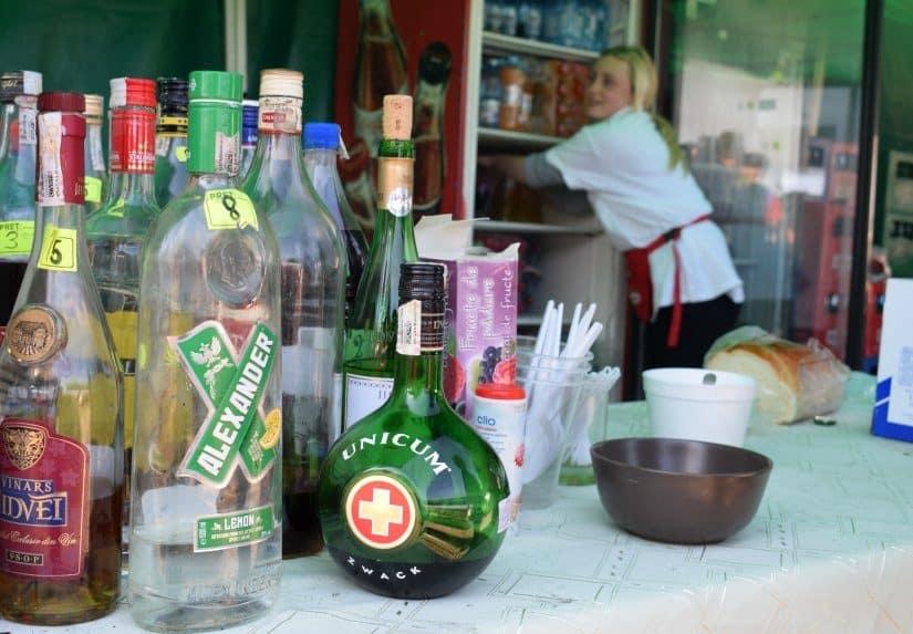 alcoholic drinks romania maramures sighetu market