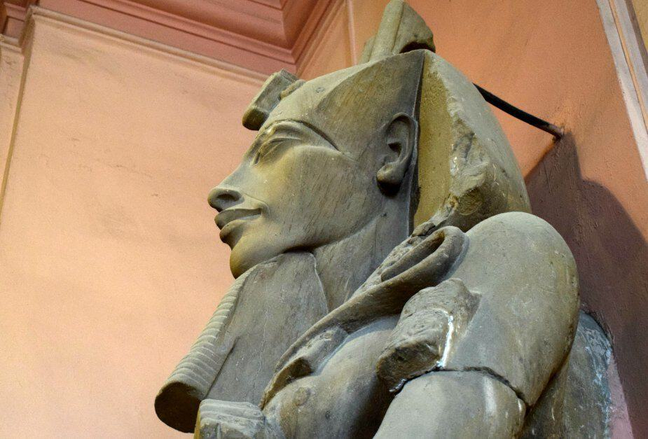 Akhenaten or Imhotep statue Egyptian Museum