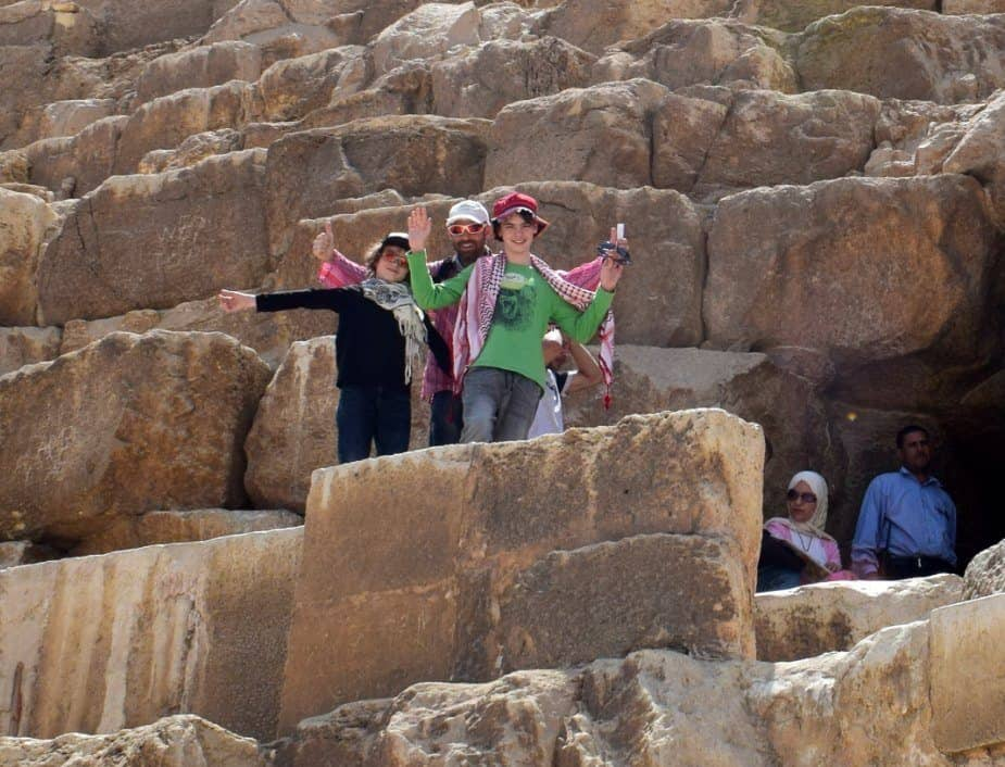 Going inside the great pyramid
