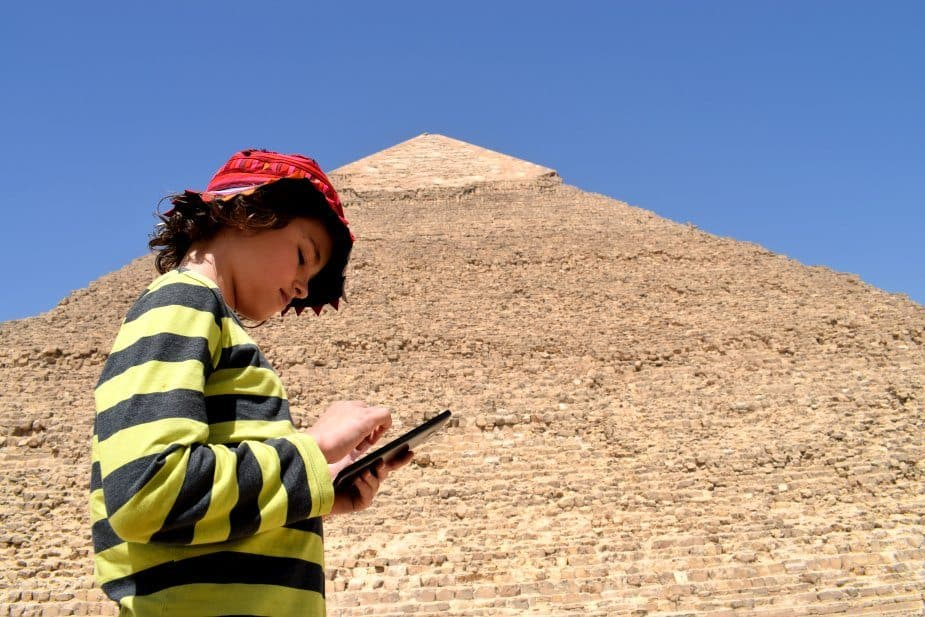 Pokemon go at the pyramids