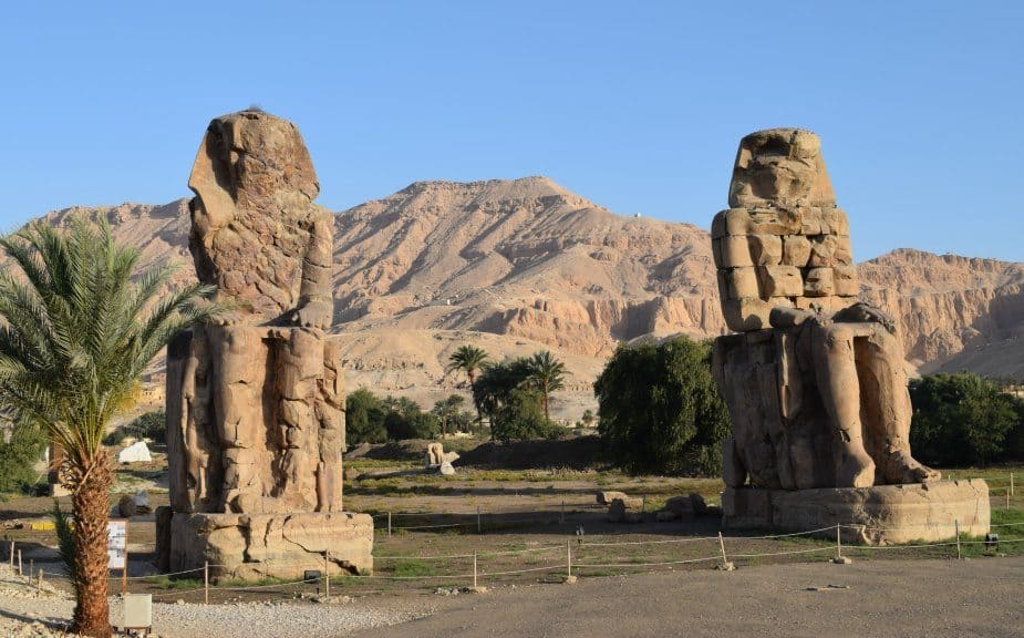 The Colossi of Memnon King Akhenaten