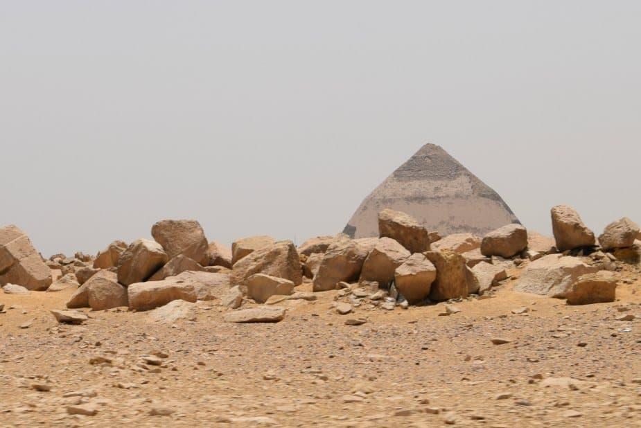 The bent or broken pyramid near Cairo Egypt