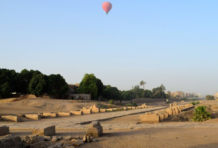 avenue of spinxes luxor egypt