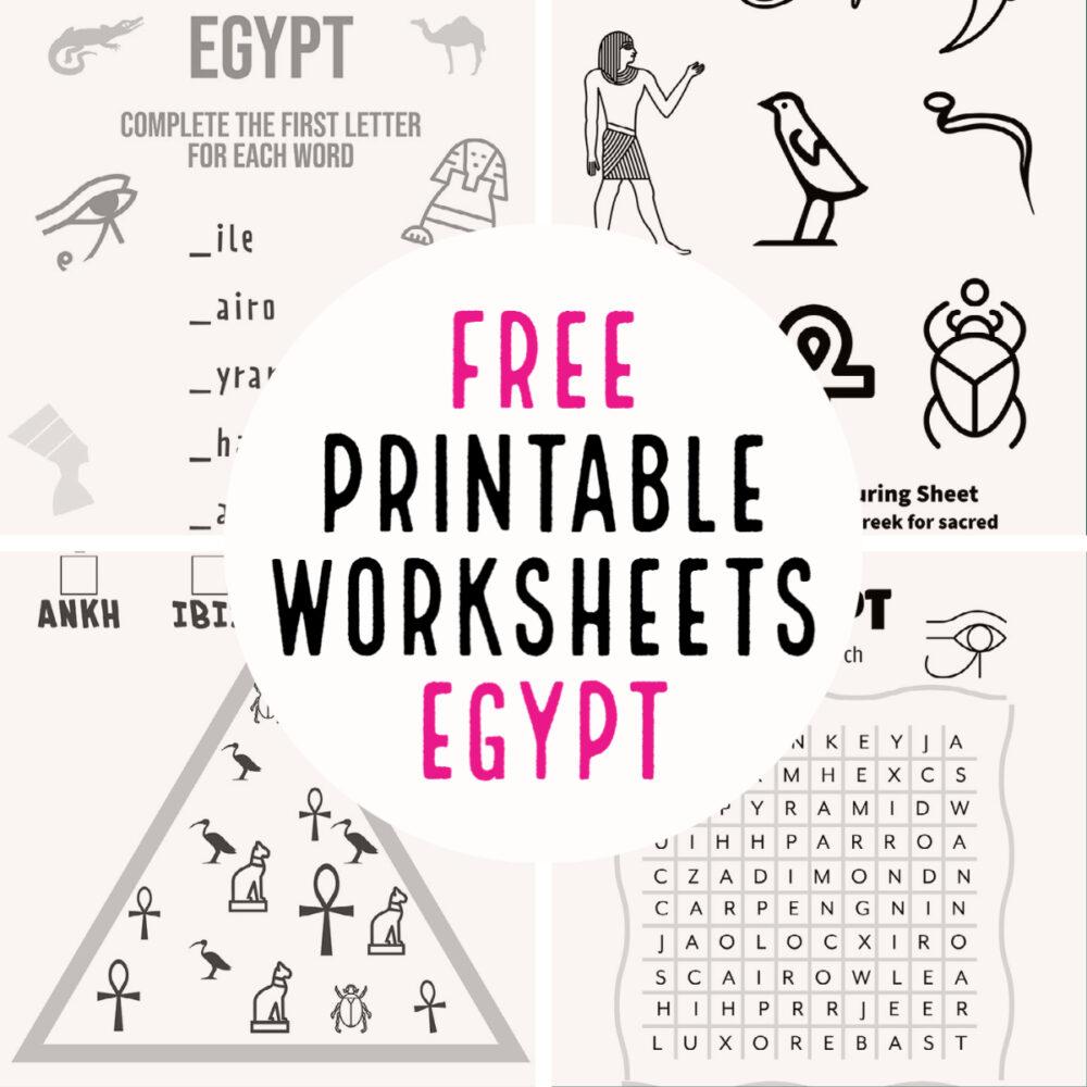 free printable worksheets egypt