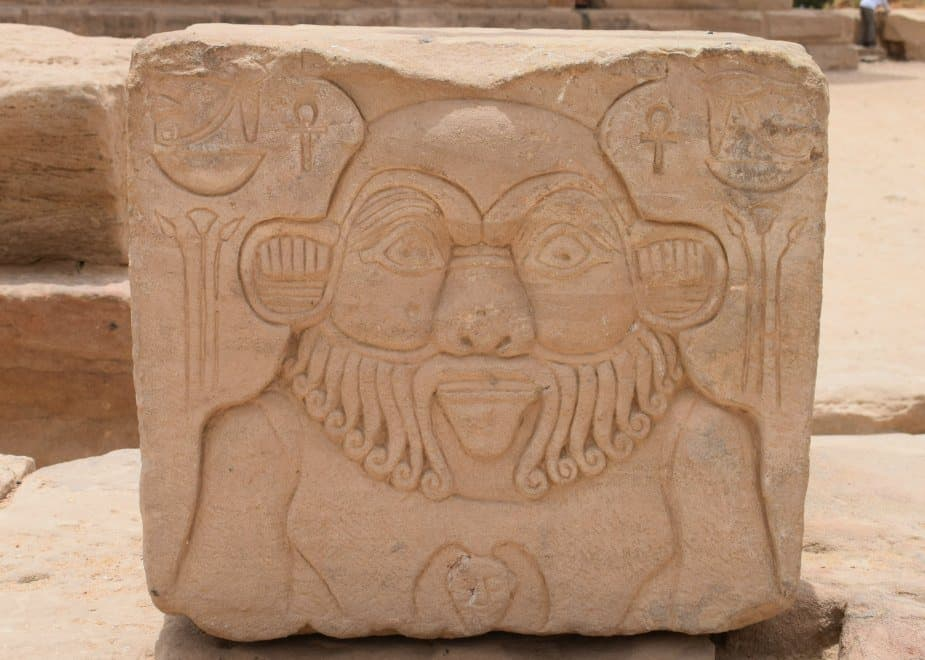 The Egyptial God Bes at Philai Temple