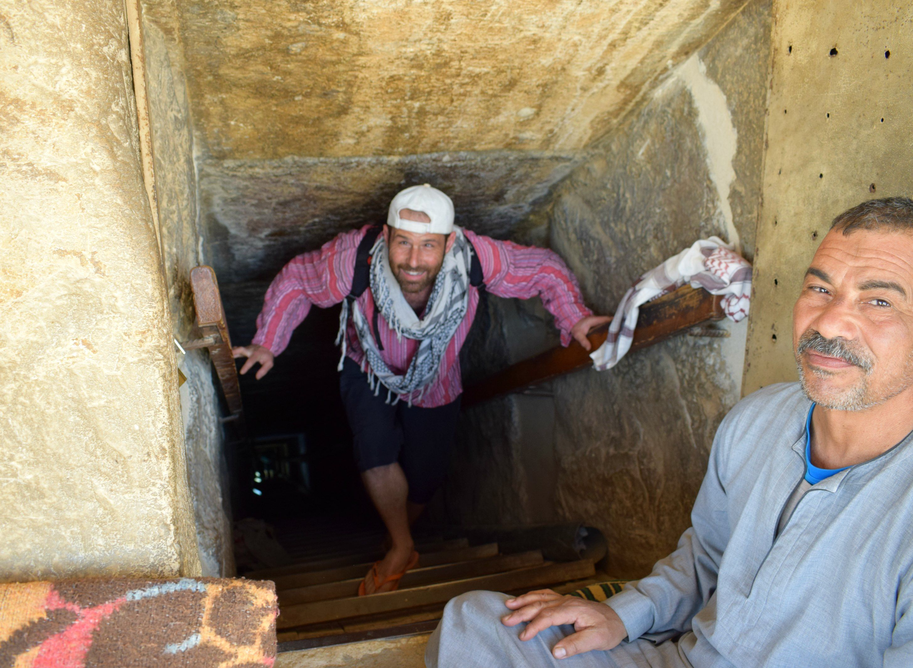 emerging from the red pyramid of djoser