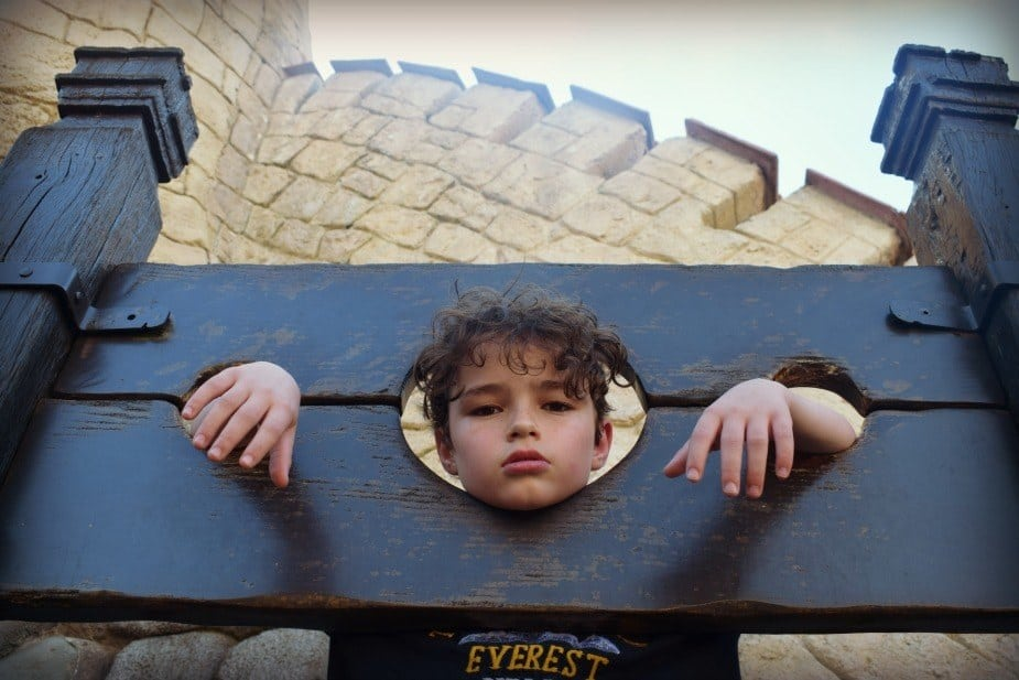 Parc Asterix Waiting in the Stocks