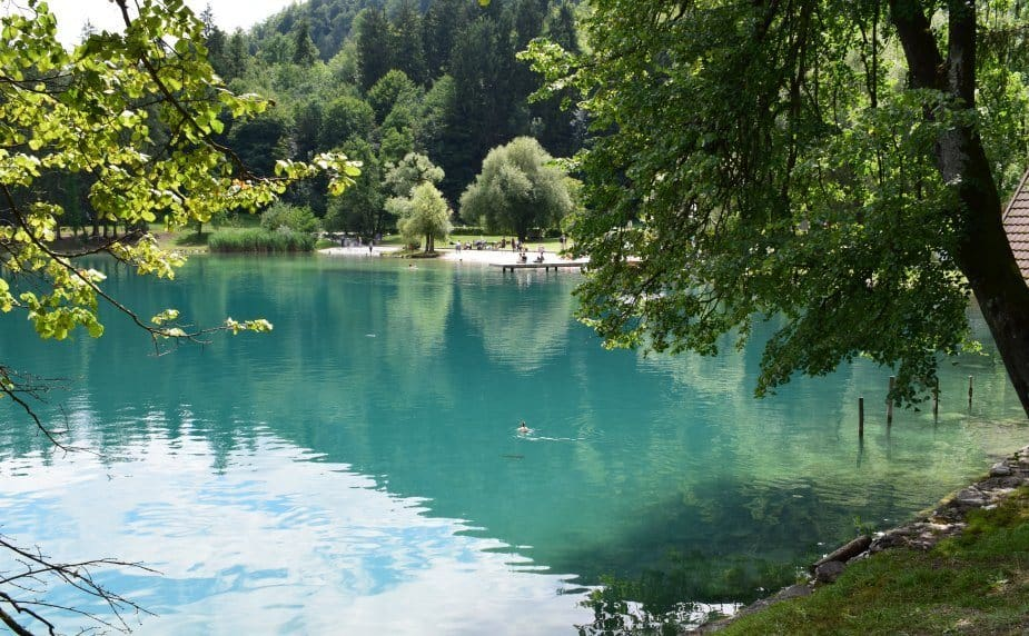 clean water lake bled slovenia