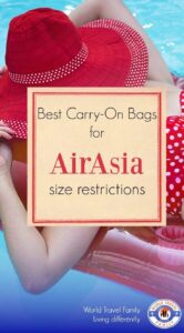Best carry on bags and backpacks for Air Asia size regulations