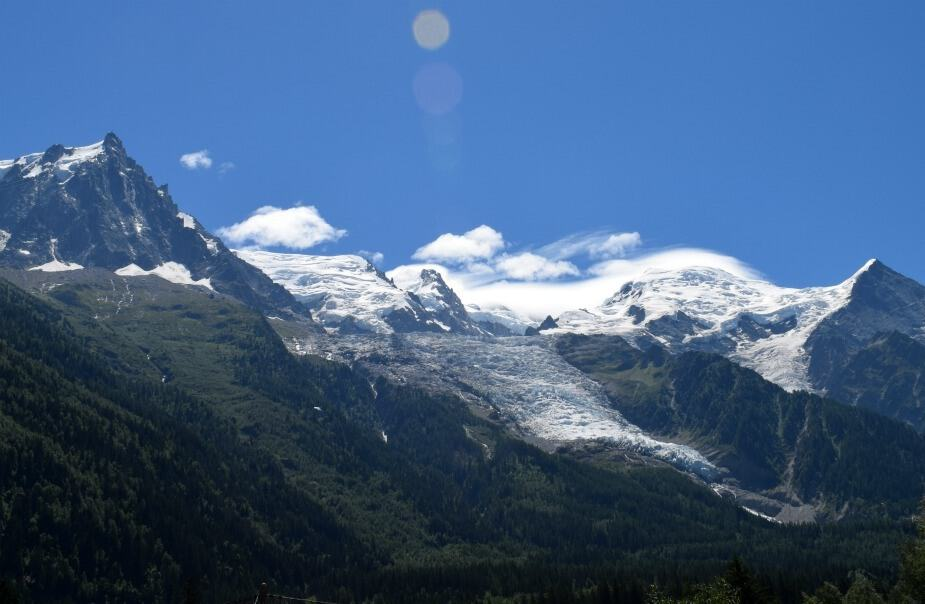 Driving through Mont Blanc