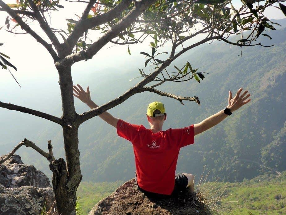 Running in Sri Lanka Little dam's Peak Ian Page