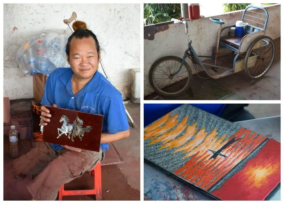 Disabled in Vietnam Agent Orange Victims Art Facility Tour