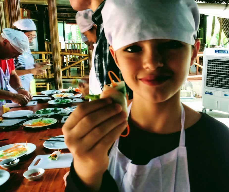 Food in Hoi An for Kids. Spring Rolls