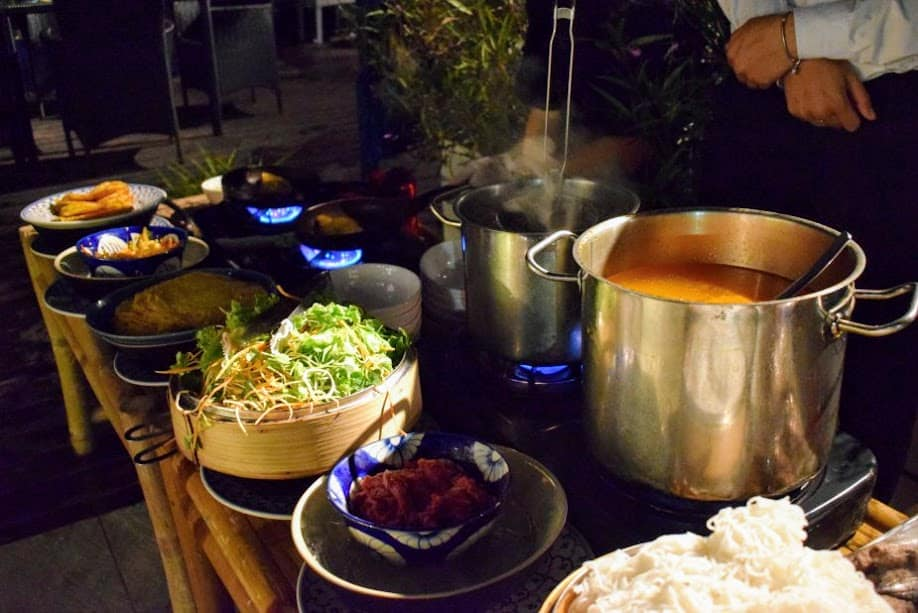 Vietnam travel luxury hotel buffet