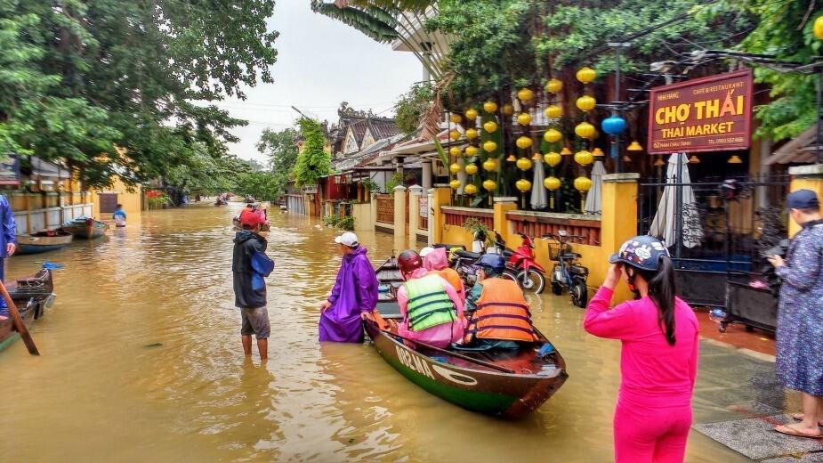Thai restaurant Thai Market Hoi An Vietnam, flooding