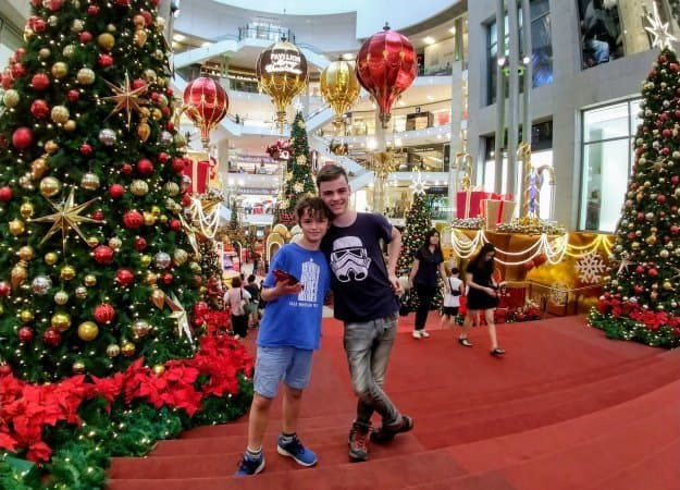 A year around the word Christmas in Kuala Lumpur