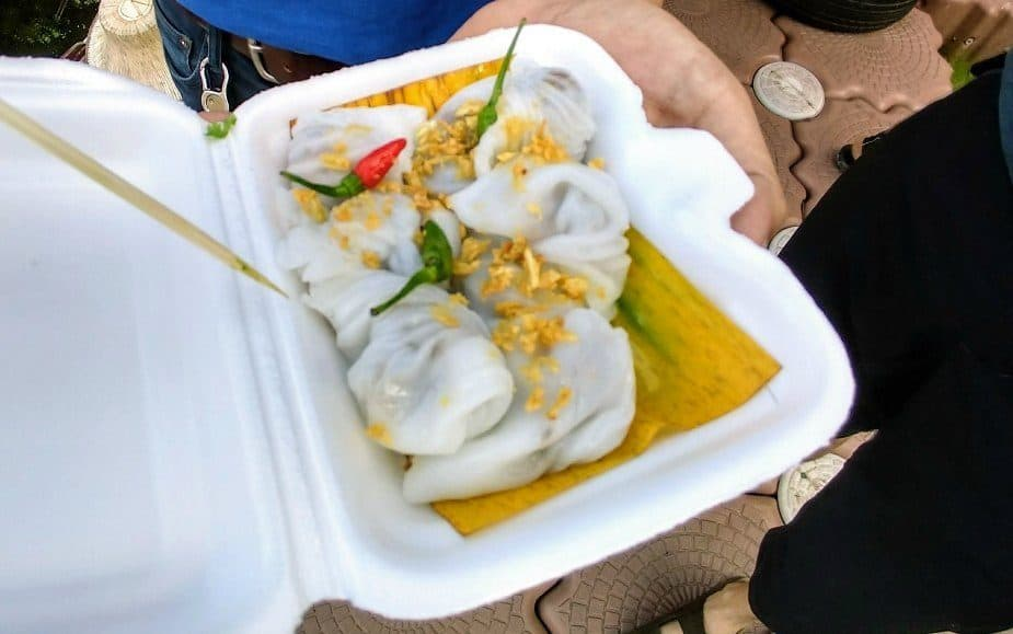 Thai street food at Tha Kha market Songkram Province. Guided Tour review