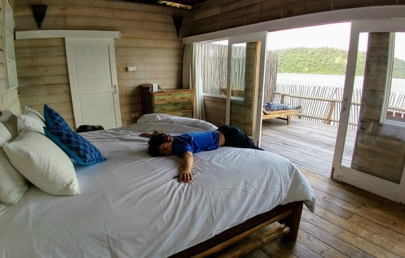Bed and Beds for Children at Telunas Island Private Resort