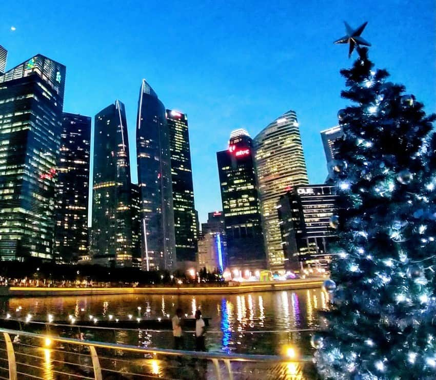 Marina Bay Singapore at Christmas. Places to visit in Singapore