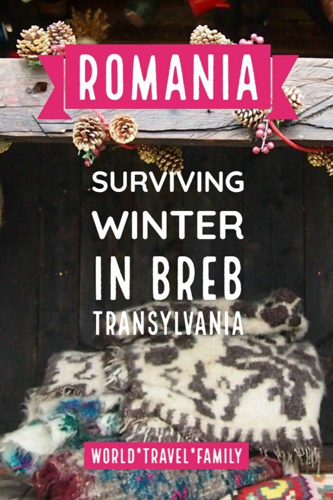 Romania Surviving winter in Breb Transylvania