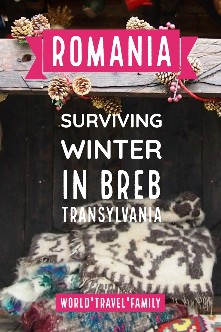Romania Surviving winter in Breb Transylvania