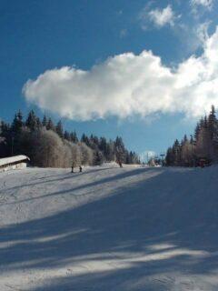 Skiing at Cavnic Romania Chair Lift and Ski School Kids Lift