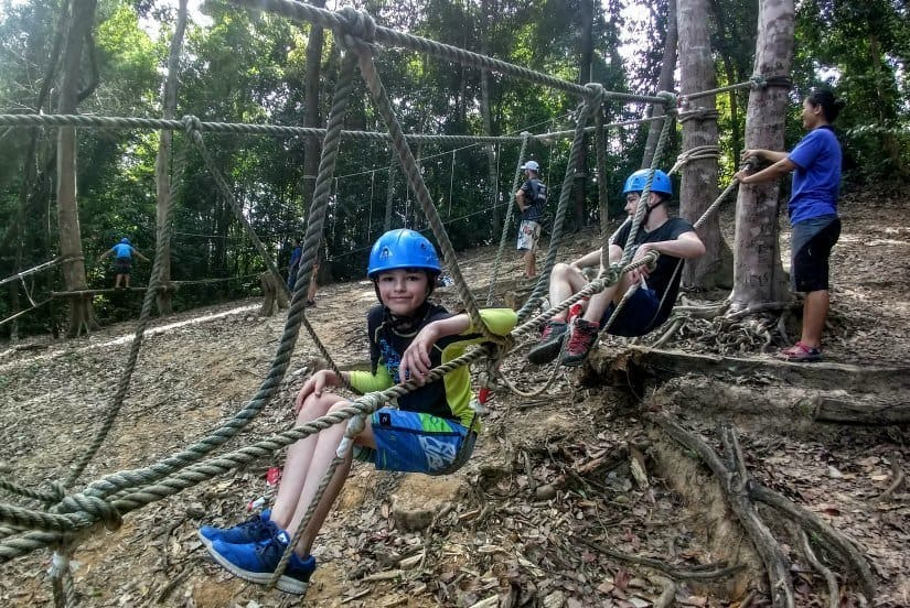 Telunas Beach Ropes Course