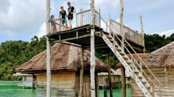 Telunas Resorts Beach Resort Diving Platform