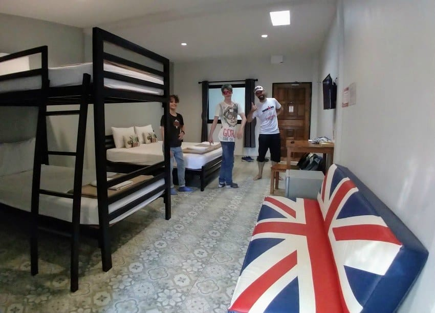 Family Room in Kanchanaburi Warm Well Recommended Accommodation Thailand