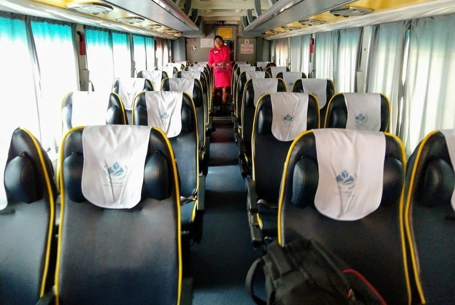 Bus from Sukhothai to Bangkok